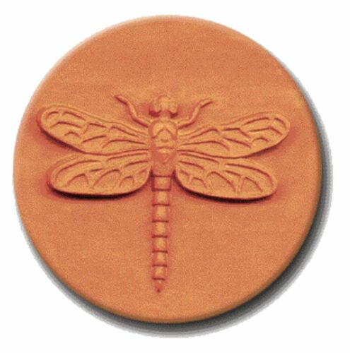 """RYCRAFT 2"""" Round Cookie Stamp with Handle & Recipe Booklet--DRAGONFLY"""