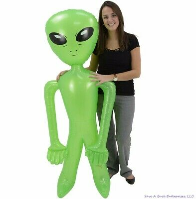 "Huge 72"" inch Green Alien Inflatable - 6 Foot Blow Up Prop Birthday Party Gift"