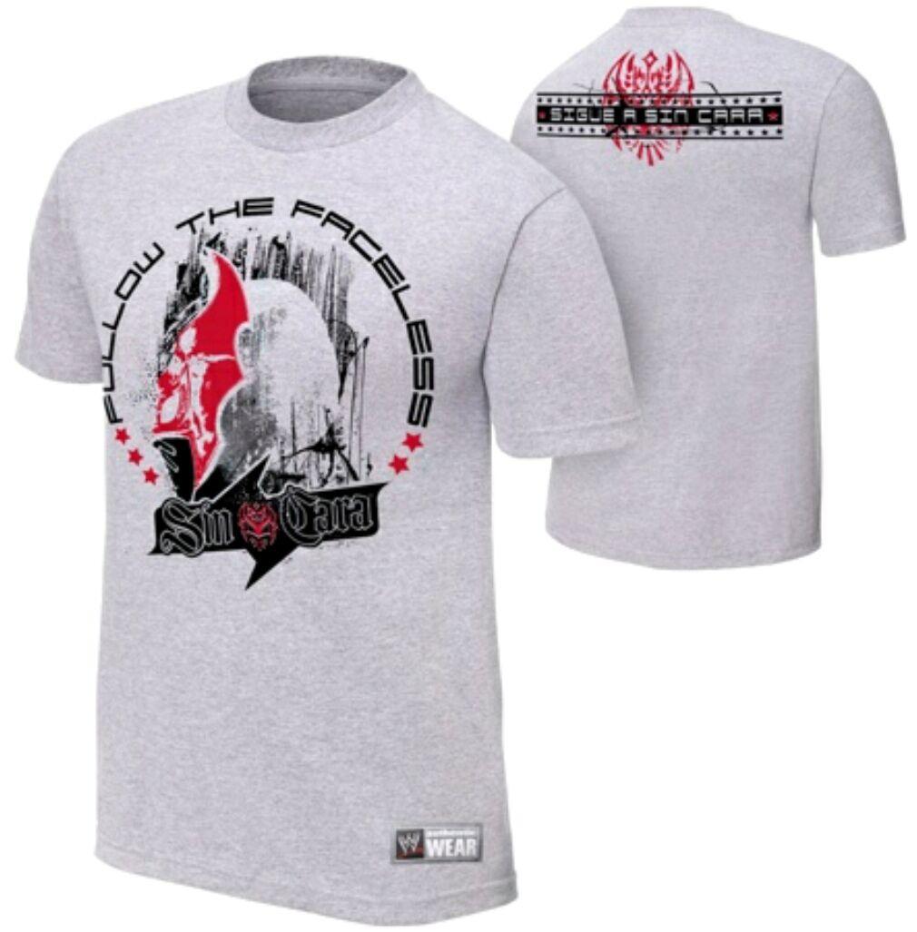 WWE Sin Cara Follow The Faceless t-Shirt Mens 38 \ 40 Medium Graphic Tee 2011 NW