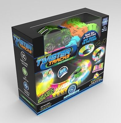 Mindscope Twister Tracks Neon Glow in the Dark 221 Piece Race