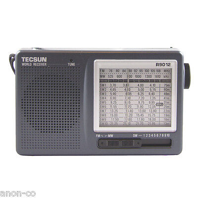 TECSUN R-9012 Portable World Radio Receiver AM/FM / MW / SW