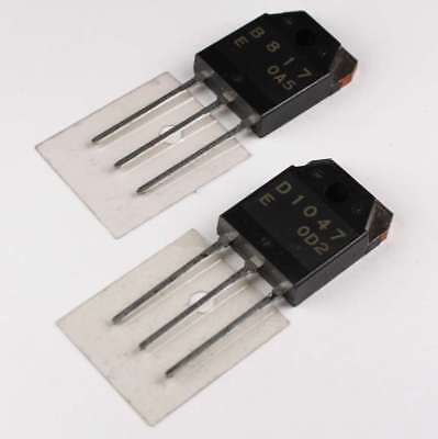 2sb817 2sd1047 - Sanyo Audio Power Transistor Pnpnpn Pair With Mica Insulator