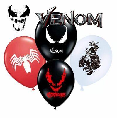 8pcs VENOM Latex Balloons  Kids Birthday Party Decoration - Venom Party Supplies