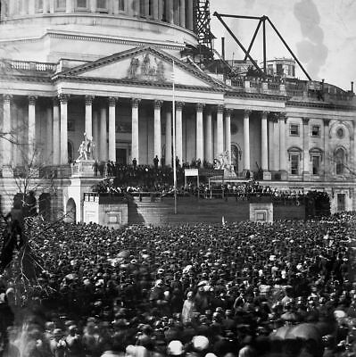 March 4,1861 President Abraham Lincoln's 1st Inaugural Address Pic  8 X 10 Photo for sale  Shipping to Canada