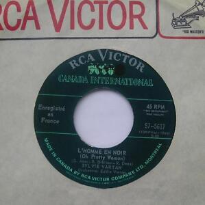 SYLVIE-VARTAN-L-039-homme-en-noir-N-039-oublie-pas-FRENCH-POP-CANADA-1968-RCA-45