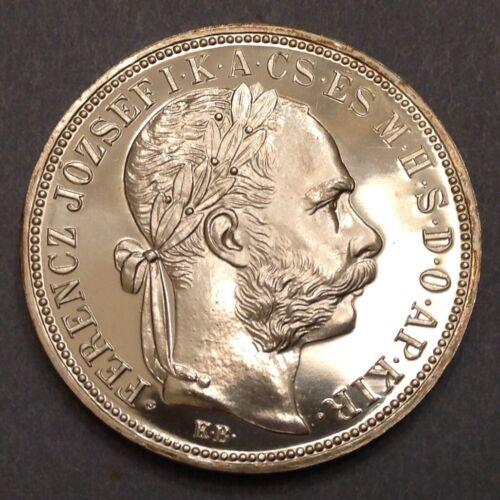 ~1892 Hungary One Forint Artex Gem Proof Restrike