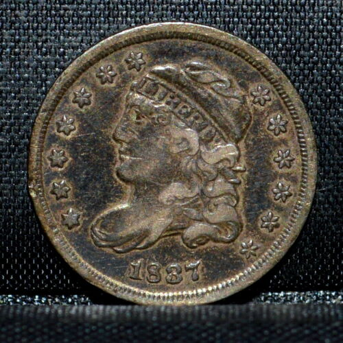1837 CAPPED BUST HALF DIME ✪ VF VERY FINE DETAILS ✪ H10C 1/2 F76 L@@K ◢TRUSTED◣