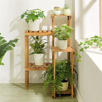 Outdoor Plant Shelves (Corner Wooden Flower Plant Stands Home Bathroom Stand Rack Shelf Outdoor)
