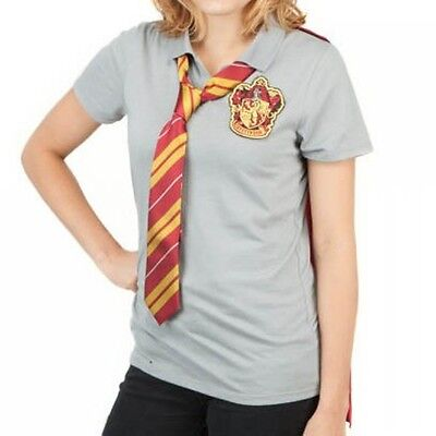 Harry Potter Gryffindor Cape T Polo + Neck Tie Halloween costume uniform NIP ](Halloween Harry Potter Costume Tie)