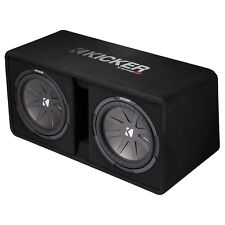 """Kicker Dual CompR 12"""" 2000W 2-Ohm High-Performance Loaded Subwoofer Enclosure"""