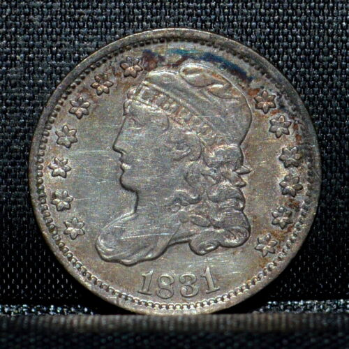 1831 CAPPED BUST HALF DIME ✪ XF EXTRA FINE DETAILS ✪ H10C 1/2 B72 ◢TRUSTED◣