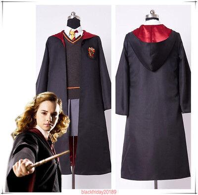 Harry Potter Kinder Erwachsene Hermione Granger Gryffindor einheitliche Cosplay (Harry Potter Einheitliche Kostüme)
