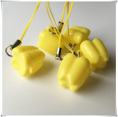 New 10pcs Yellow Plastic Baby Teeth Case Milk Teeth Box Flower Shape Holer