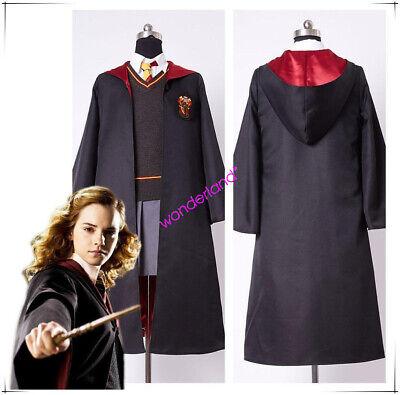 Harry Potter kid's Adult's Hermione Granger Cosplay Costume Gryffindor