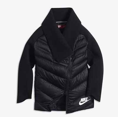 Nike Kids Fleece (Nike Tech Fleece Aeroloft Older Kids Girls' Cape Jacket  - 806397 010)
