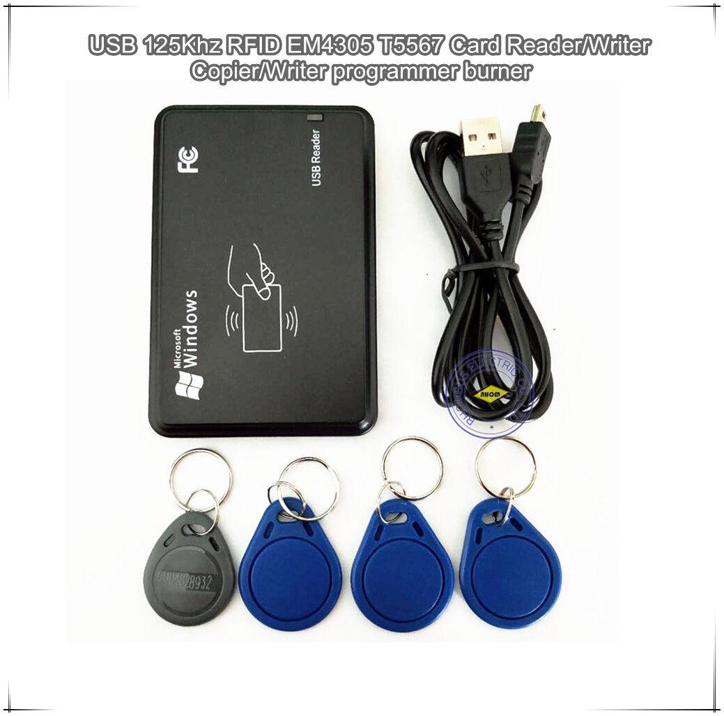 Details about USB 125Khz RFID EM4305 T5577 Card Reader/Writer Copier/Writer  programmer burner