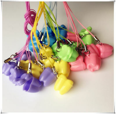 300pcs Milk Teeth Holder Boxes Plastic Necklace Tooth Shaped Kids Promotion Gift