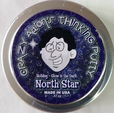Christmas North Star Glow In Dark Holiday Crazy Aarons Thinking Putty 2  Tin