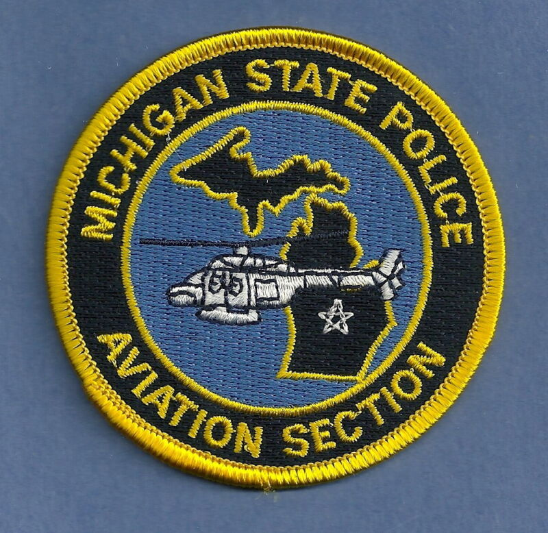 MICHIGAN STATE POLICE AVIATION SECTION SHOULDER PATCH
