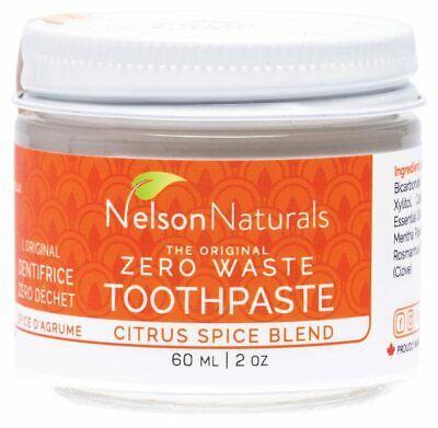 Nelson Naturals Zero Waste Toothpaste - Citrus Spice 60ml