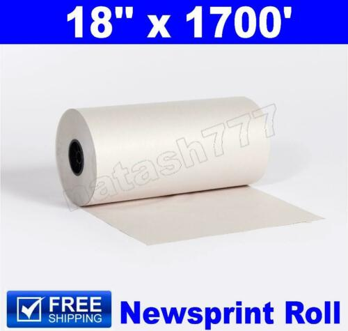 """18"""" x 1700` 30# Newsprint Shipping Wrapping Stuffing Packaging Paper Roll"""