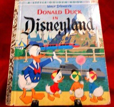 """Donadl Duck in Disneyland Little Golden Book """"D"""" Vintage 1960 Walt Disney  D92"""