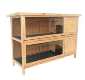 Pawhut rabbit hutch.  Read entire ad