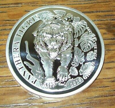 500 KIP Tiger Panthera Tigris Privy Mark f 15 Fabulous Laos Silver Proof 2017