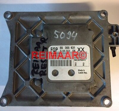 Used, Opel ECU Vectra C 1,8 Z18XER 55355631 Xx Engine Control Unit Reset Reset for sale  Shipping to Ireland