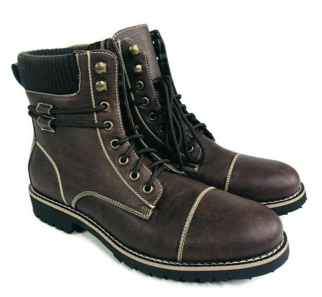 Polar Fox Modern Lace up Wool Lining Boots MPX808570 Mens Si