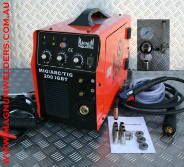 Magnum Mig200 Inverter Mig, Tig, Arc Welder Gas-Gasless