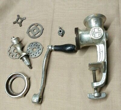 Griswold Meat Grinder Antique collectible No 1 with 3 blades