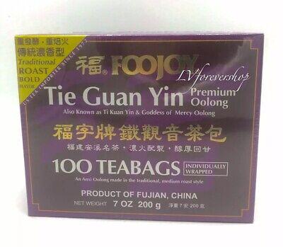 FooJoy Tie Guan Yin Tea -tie Kuan yin Tea 100 Individually Wrapped Bags 7 OZ ()