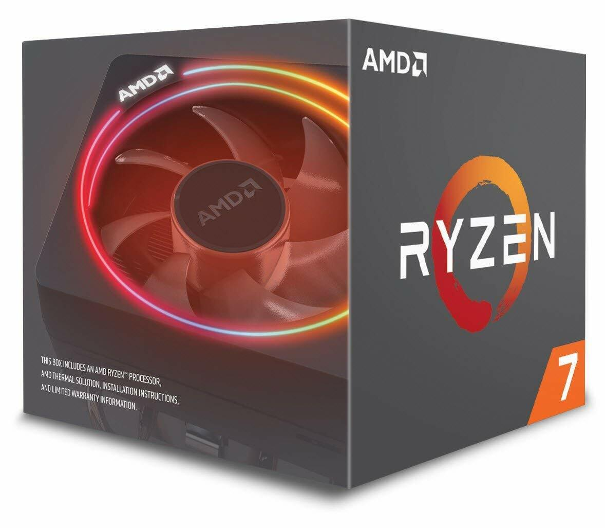 AMD Ryzen 7 2700X Processor with Wraith Prism LED Cooler - Y