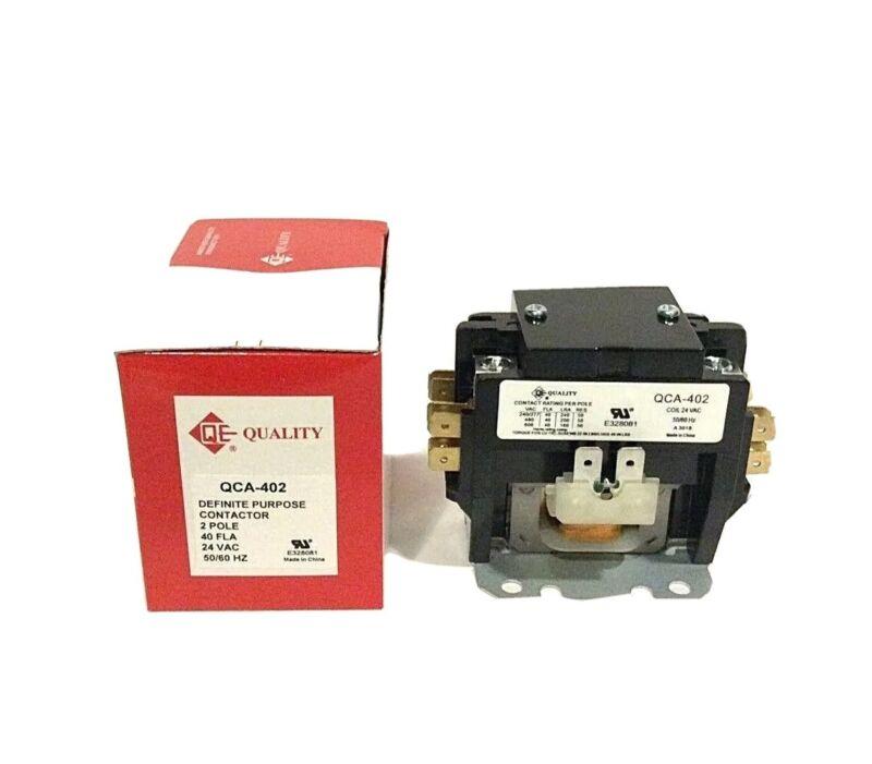 DEFINITE PURPOSE CONTACTORS (2 POLES) ,COIL VOL 24- 40AMP. 240-277 VOLT.