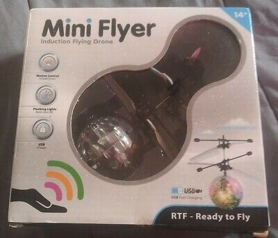 MINI FLYER INDUCTION FLYING DRONE RTF USB Protection MULTI COLOR MOTION CONTROL NIB