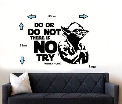Star Wars Yoda Quote Wall Art Sticker/Decal