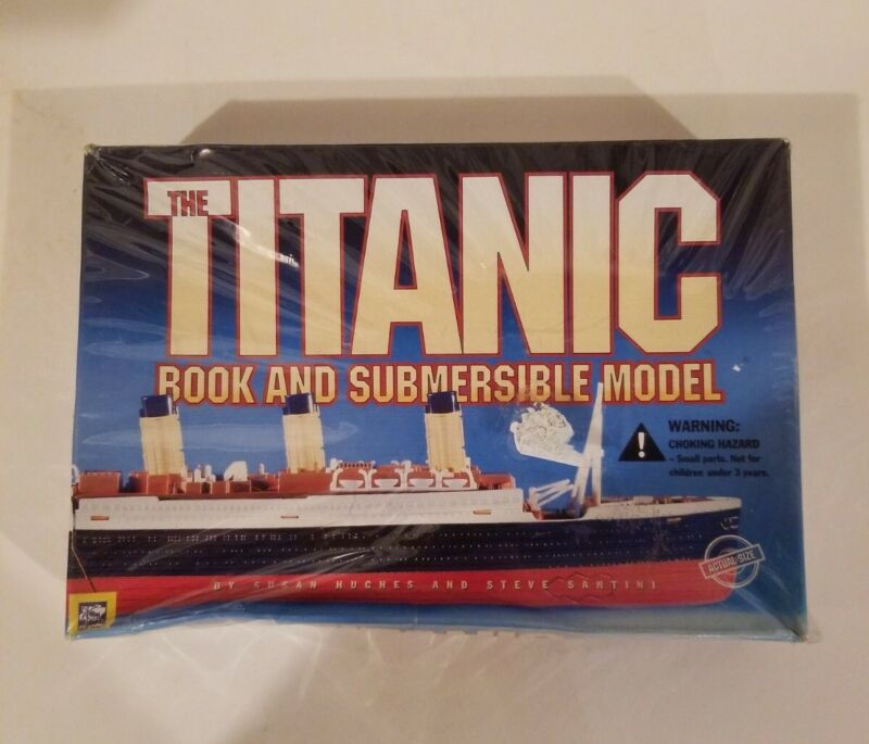 The Titanic Book & SEALED Submersible Model RARE OOP Hughes Santini 1999 Vintage