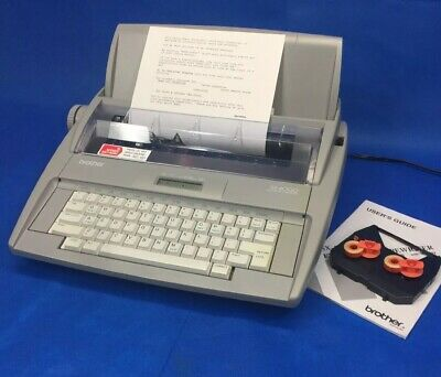 Brother Electronic Typewriter Gx-4000 Very Good Condition With Keyboard Cover
