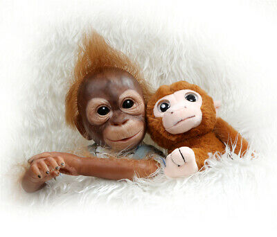 21 inches Monkey Dolls Silicone Baby Monkey Real Look Reborn Baby Dolls Ape Toys