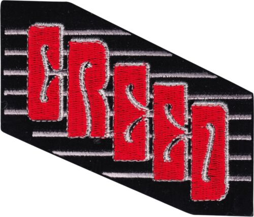 """Patch - Creed Red Black Logo 90s 2000s Rock Music Band 3.75"""" Sew Iron On #19204"""