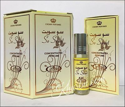 Box of 6 So Sweet 6ml by Al Rehab Best Seller Concentrated Perfume/Attar / Oil