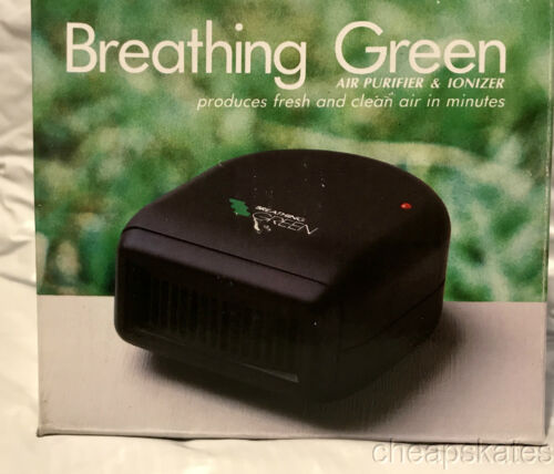 BREATHING GREEN Air Purifier & Ionizer for Home~Car~Office Portable~Fresh Air
