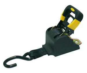 1ea 10 self retractable ratchet tie down strap enclosed. Black Bedroom Furniture Sets. Home Design Ideas