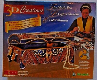 3D CREATIONS:  WIND UP MUSIC BOX PUZZLE BY WREBBIT - NEW & FACTORY SEALED