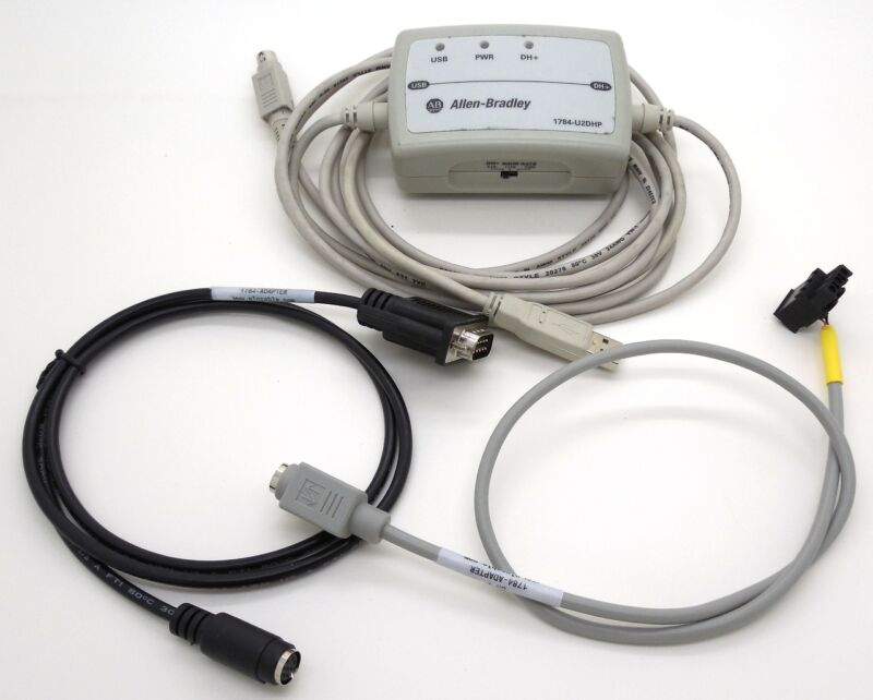 Allen Bradley Used 1784-U2DHP Kit USB to Data Highway Plus with adapters