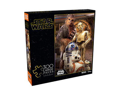 Star Wars  Chewbacca  and the Droids 300 Large Piece Jigsaw Puzzle + POSTER