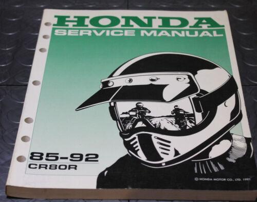 NOS OEM Honda Service Shop Manual NEW 85-92 CR80R CR 80 R