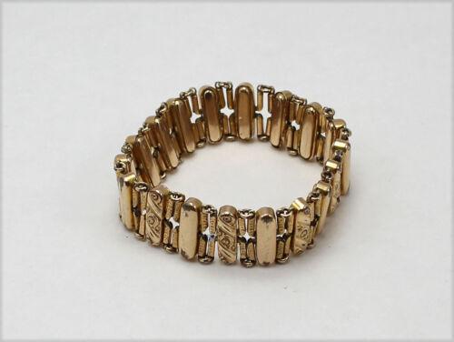 Vintage Gold Tone Victorian Style Expandable Bracelet