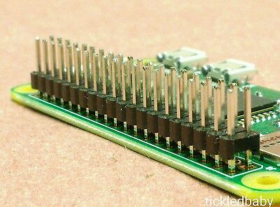 40 Pin 2x20 Dual Male Header Gpio Io Connector Hat Pi Zero Fast Ship Us